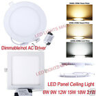 Dimmable 6W 9W 12W 15W 18W 21W LED Panel Ceiling light Downlight Lamp+Dirver kit
