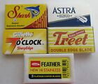 Double Edge Razor Blade Sample Pack - DE Variety Mixed Treet Gillette 7 Feather