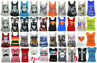 WOMENS LADIES BUTTERFLY FLORAL TIGER SUPERMAN NY PRINT SLEEVELESS VEST TOP 8-14
