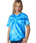 68B Gildan Tie Dye Kids' Neon One-Color Pinwheel Tee Plain T-Shirt