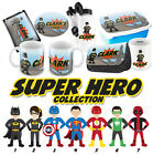 PERSONALISED Superheroes Gifts - Lunchbox iPad case Pencil Case Water Bottle