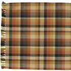 "TABLE RUNNER - 36"" OR 54"" LONG - PUMPKIN SPICE - PARK DESIGNS PLAID BLACK ORANGE"