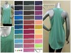 NEW MELANGE LOOSE TANK TOP WITH BUTTONS BASIC SLEEVELESS TSHIRT ~ S M L #MT-3033
