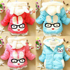 Baby Girl Clothes Winter Coat Kids Pink/Red/Blue Jacket Gown with Zip 2-4Y FREE