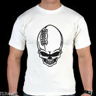 FOOTBALL SKULL MENS T SHIRT AMERICAN SPORT GYM GOLDS POWERHOUSE GOTHIC RUGBY FIT