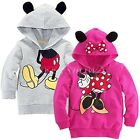 Boys Girls Kid Hoodie Coat Mickey Mouse Top Shirt Jumper Sweatshirt Tail Stylish