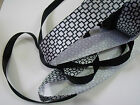 ART DECO Black & White Retro Cube DUO Set - Luxury Wire Edge Edged Ribbon NEW