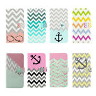Colorful Chevron Stripe Stand Wallet Flip PU Leather Case For iPhone4 4s 5 5s 5c