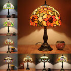 TIFFANY STYLE BEAUTY SHADE HANDCRAFTED STAINED GLASS TABLE DESK LAMP 12""