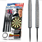Harrows Silver Arrows Darts Set - Chromed Brass Darts - Available in 18g - 26g