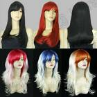 5 Colours 24/20in. Long Hair 60/50cm Straight/Razor Cut Flip Cosplay Wigs PR/1-1