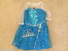 Disney Frozen Princess Elsa Fancy Dress Costume Wand & Tiara All Ages NEW *LOOK*