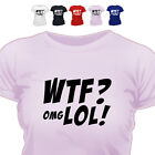 Wtf Omg Lol Computer Type T Shirt All Size/Colour