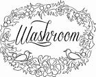 Traditional Washroom a Vinyl Wall Art Sticker Bathroom extra large big sign