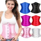 Gothic Underbust lace up g-string sexy corset waist cincher boned ladies bustier