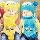 3585 Winter Baby Toddler Boy Girl Kids Warm Hat Cap + Scarf 1--4 Years