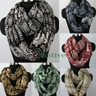 Row Floral&Paisley&Elephants 2-Loop Cowl Eternity Endless Circle Voile Scarf