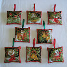 1 Hand Made Fabric Double Sided Christmas Tree Decoration        6 Designs
