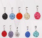 925 STERLING SILVER SHAMBALLA CRYSTAL BALL NECKLACES 6 Colours! UK SELLER