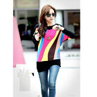 New fashion popular woman Autumn with batwing Long sleeve blended T-shirt   F