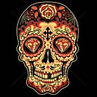Day of the Dead Sugar Skull Red Womans T Shirt Free Shipping 17343