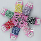 Cotton Twine Cord 8-Ply Thread Macrame Rope Jewelry Beads String Gift Packing