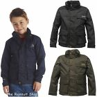 REGATTA WARPATH WATERPROOF BOYS BREATHABLE RAIN COAT JACKET AGE 3-12YRS