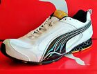 NEW MENS PUMA SHOES - CELL CERANO M - White/Black/Silver/Yellow - 185636 03