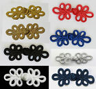Frog Fasteners Button Knots  Colours:  Gold, Silver, Black, # S6