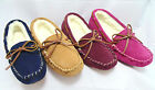 New Genuine Sheepskin Lambskin Moccasins Slippers slip-on Womens Ladie Mens Warm