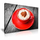 COFFEE CAPPUCCINO Canvas Framed Print Cafe Deco - More Size