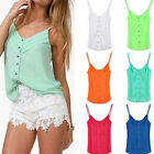 Women's Strappy Cami Vest Cool Tops Bright Color Tank Clubwear Tee Summer Blouse