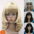 8 colors Medium-Short Curly Women Female Lady Full Hair Home wig Perruque #L421