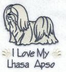 DOG WALKERS BAGS EMBROIDERY LHASA APSO     IDEAL GIFT ADD A NAME FOR FREE