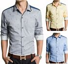 T221 New fashion Mens Luxury Casual Slim Fit Stylish Dress Shirts 4 Color 5 Size