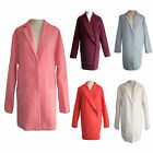 New Womens Ladies wool like oversized Boyfriend Winter Coat Jacket size 8-14