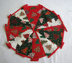 Hand Made 10ft /13 Flag Christmas Tree Fabric Bunting Ceiling Decoration