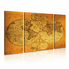 MAP 4 3B Canvas Framed Printed Wall Art ~ 3 Panels ~ More Size