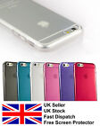 iPhone 6 ULTRA THIN TPU SOFT SILICONE GEL BACK CASE COVER FOR + SCREEN PROTECTOR