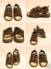 Thom McAn  Boy's Brown Leather Sandals Velcro NEW