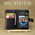 3Colors Wallet Leather Case Cover Pouch + LCD Film For HTC Desire 516 316 #i
