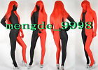 NEW SUIT LYCRA SPANDEX ZENTAI FANCY BLACK/RED FULL BODY CATSUIT COSTUMES #X331