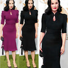Sexy Celebrity Womens Vintage Prom Cocktail Party Evening Mermaid Midi Dress J