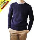 JEME Men's Round Neck Twist Cable Soft Pullover Sweater w/ 10 Colors 2014 FW