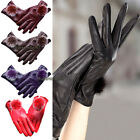 HOT Fashion Women Girls Winter Soft Leather Mitten Gloves Warm Driving Gift NEW