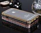 NEW Bling Diamond Crystal Aluminum Bumper Case Cover For Apple iPhone 5 5s 6