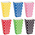 8x Popcorn Treat Box Polka Dots Spot Style Boxes Favour Party Paper Loot Bags