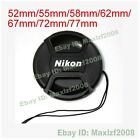 New 55mm -77mm Snap-on Front Lens Cap Cover w Cord strap For Nikon Sony+Holder