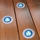 LED WALKOVER GARDEN DECK LIGHTS 10 LIGHT KIT WHITE OR BLUE LEDS