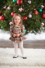 Mud Pie Christmas Holiday Tartan All In One Dress Girls 3M-18M #1132154